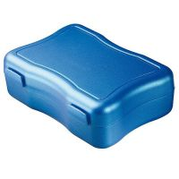 Brotzeitdose Wave gro�, metallic-blau