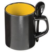 Tasse Allie, schwarz/orange