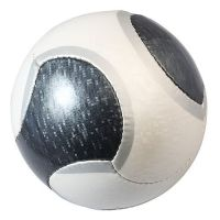 Fu�ball Starlight, wei�/grau, aufgepumpt !