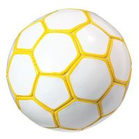 Fu�ball Mini Colour, wei�/gelb
